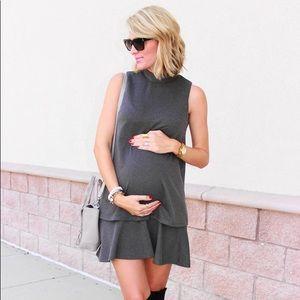 🎉Host Pick! Gray Maternity Dress